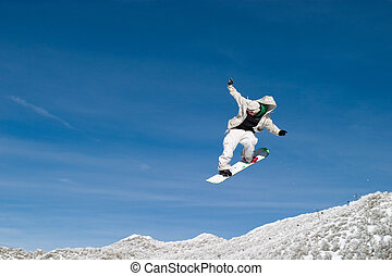 alto, pensionante, zoom, neve, aria