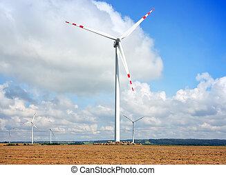 alto, turbine, vento