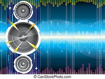 altoparlante, audio, onda