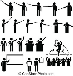 altoparlante, presentazione, insegnamento