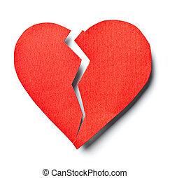 amare cuore, relazione, rotto