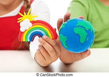 ambientale, concetto, educazione, consapevolezza