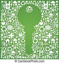 ambiente, chiave verde, fondo