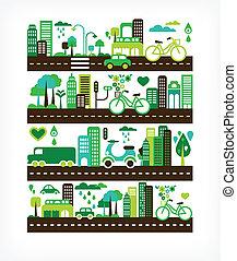 ambiente, città, ecologia, -, verde