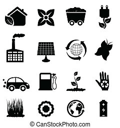ambiente, eco, icone