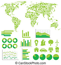 ambiente, ecologia, infographics