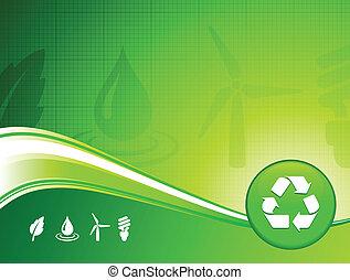 ambiente, fondo, verde