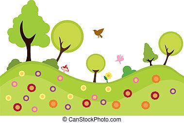 ambiente, piante, fondo