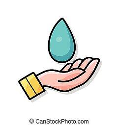 ambiente, scarabocchiare, proteggere, acqua, conservare