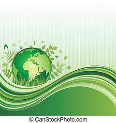 ambiente, sfondo verde