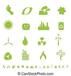 ambiente, simboli, ecologia, verde