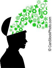 ambiente, verde, mente