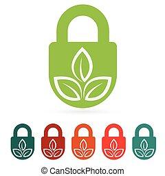 ambiente, web, proteggere, icona