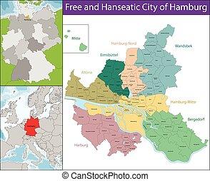 amburgo, libero, hanseatic, città