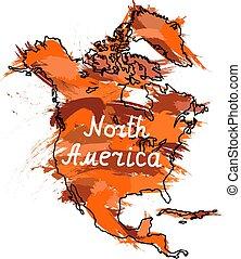america, nord, continente