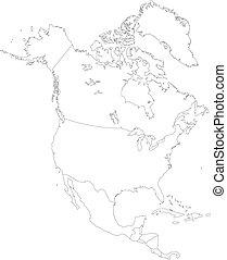 america, nord, contorno
