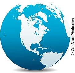 america, nord, globale, sud, mondo