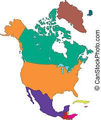 america, nord, paesi