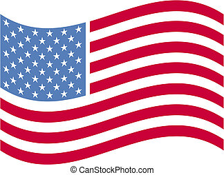 americano, arte, bandiera, clip