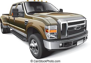 americano, camion, full-size, pickup