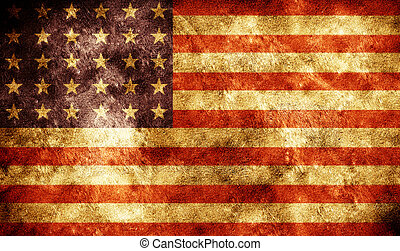 americano, grunge, bandiera, fondo