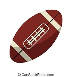 americano, palla, football, icona