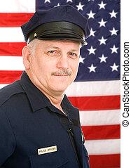 americano, poliziotto