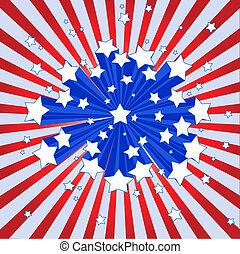 americano, starburst, fondo