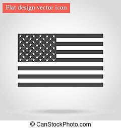 americano, vettore, bandiera