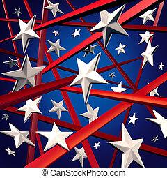 americano, zebrato, stelle