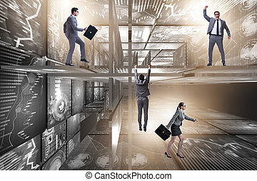 amministrazione, concetto, dati, persone affari