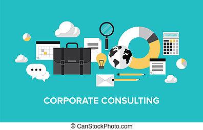 amministrazione, consulente, concetto, corporativo