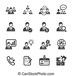amministrazione, risorsa, umano, icone