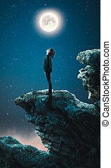 ammirare, luna