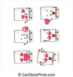 amore, carattere, emoticon, notizie, cartone animato, carino, tavoletta