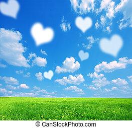 amore, fondo, natura