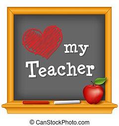 amore, mio, insegnante