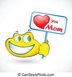amore, presa a terra, smiley, mamma, messaggio, lei