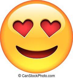 amore, sorriso, emoticon
