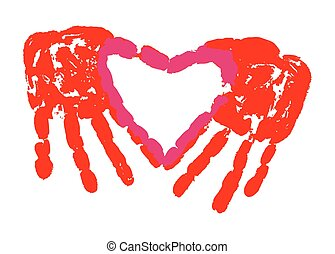 amore, stampa mano
