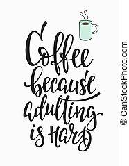 amore, tipografia, citazione, caffè