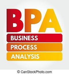 analisi, affari, acronimo, -, bpa, processo