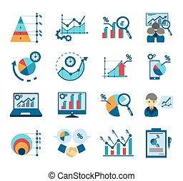 analisi, collezione, dati, icone, appartamento