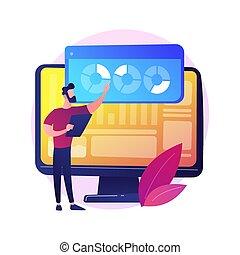 analisi, concetto, sito web, vettore, metaphor.