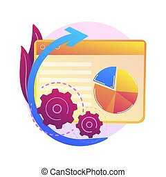analisi, dati, concetto, vettore, metaphor., grande
