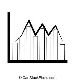analisi finanziaria, affari, fluttuazione, grafico, grafico, linea, dati, icona