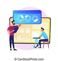 analisi, metafora, dati, concetto, statistica, vettore