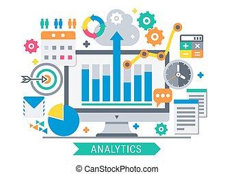 analytics, attrezzi, informazioni