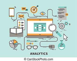 analytics, concetto, dati