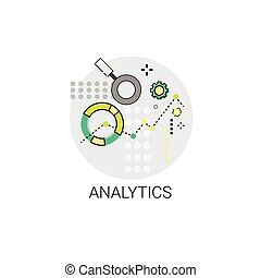 analytics, finanziario, affari, analisi, icona